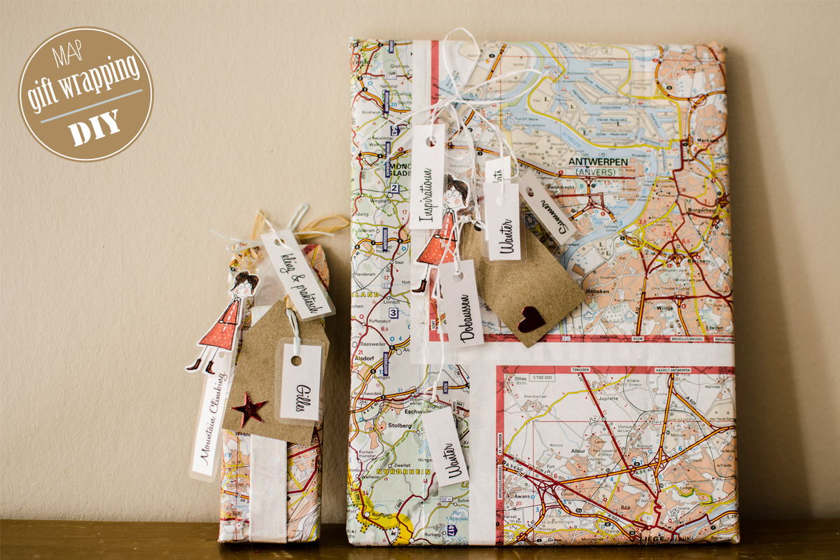 map gift wrapping do it yourself