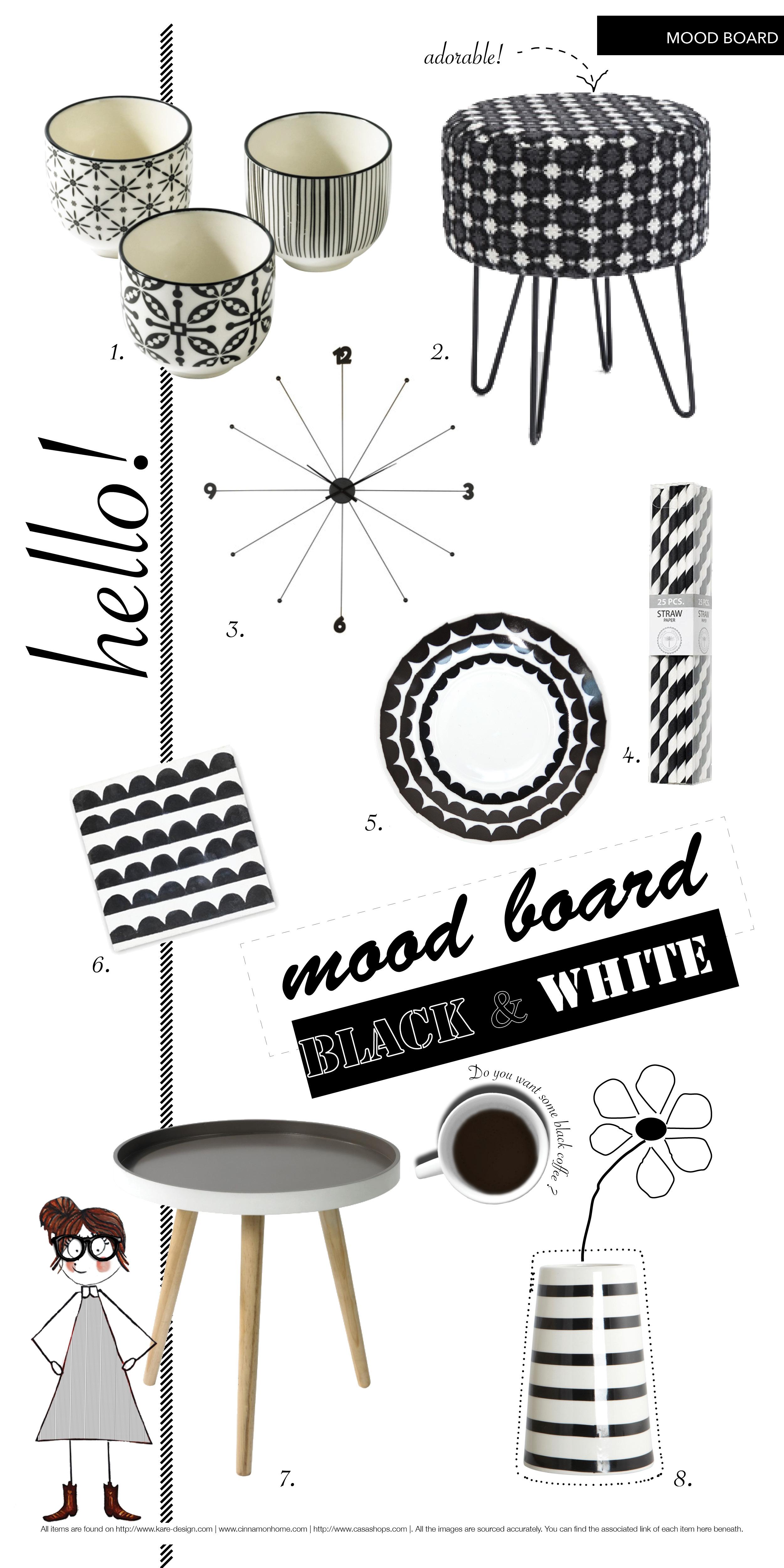 Mood Board Black + White