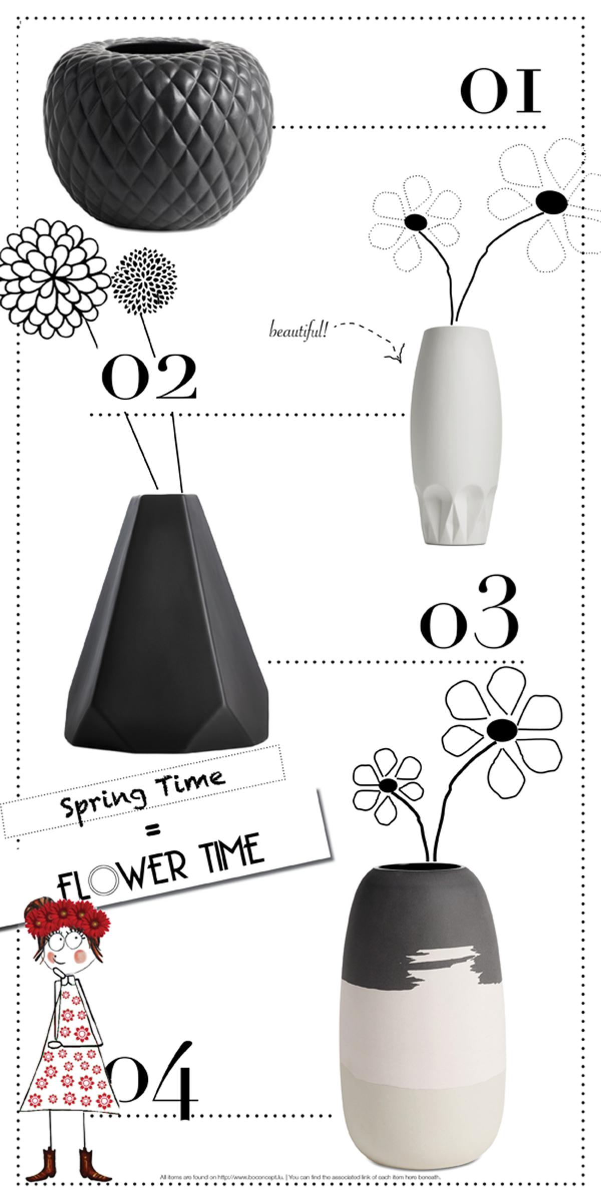 MoodBoard   Vases in grey