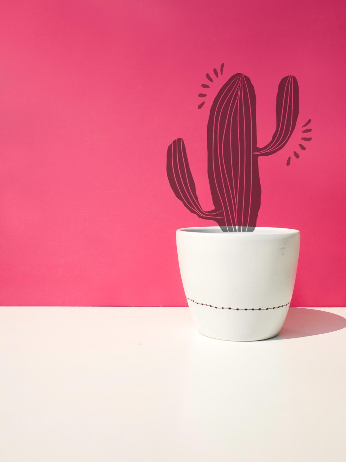 Flower Pot + Cactus