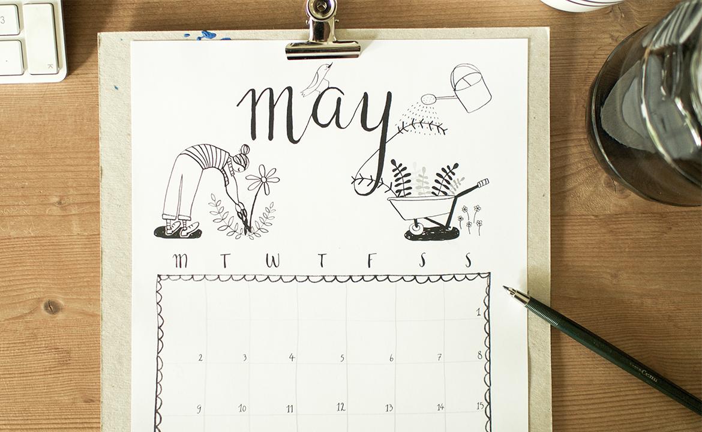 free printable calendar sheet may