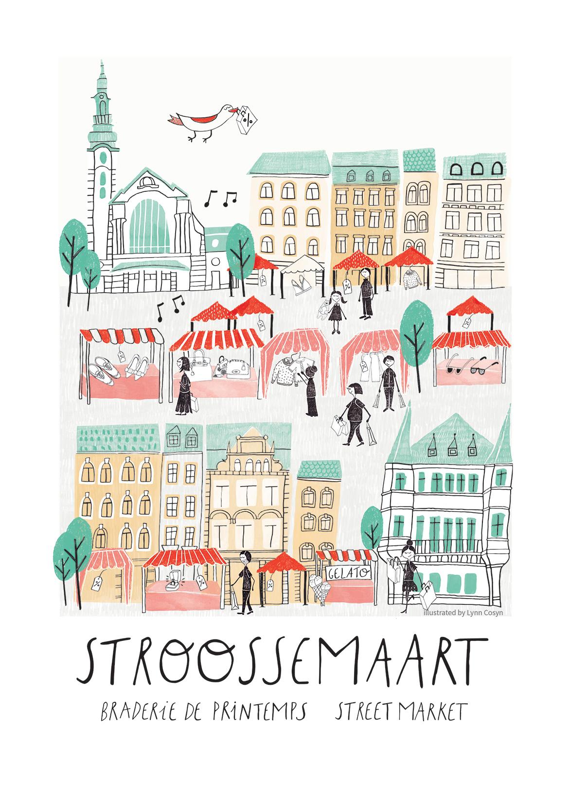 Street market in Luxembourg by Lynn Cosyn