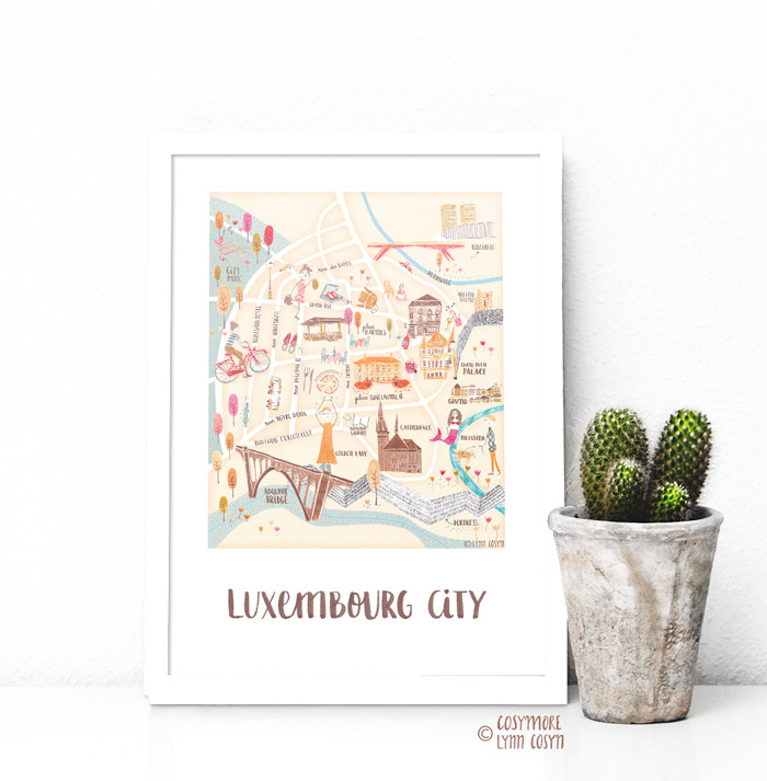 Luxembourg City Map- Lynn Cosyn